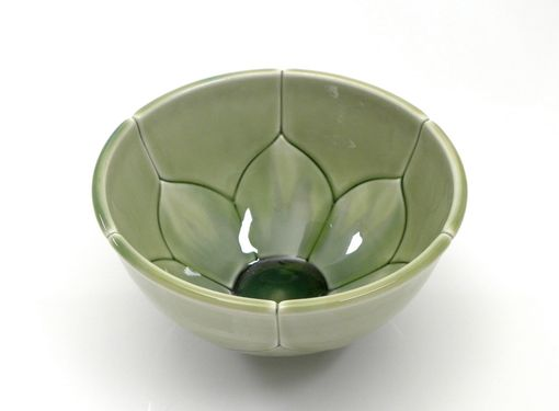 Custom Made Green Lotus Bowl Soup Or Cereal Size