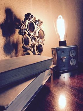 Custom Made Industrial Thomas Edison Desk Light W/Plugins
