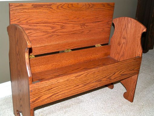 Custom Made Mission Style Hallway Bench