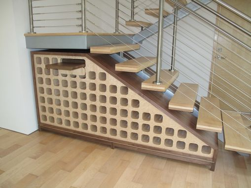 Custom Made Custom Undert-Staire Wine Rack