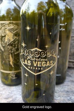 Custom Made Fully Personalized Wine Bottle Engraving