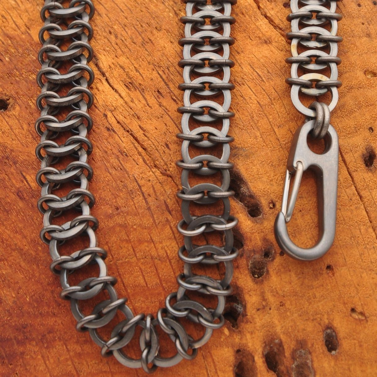 Hand Crafted Titanium Chainmail Wallet Chain By Ober Metal
