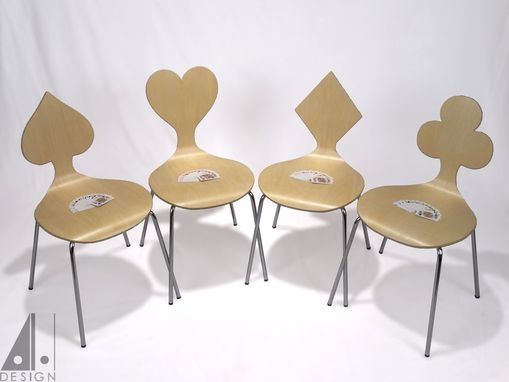 Custom Made Card Suit Themed Chairs