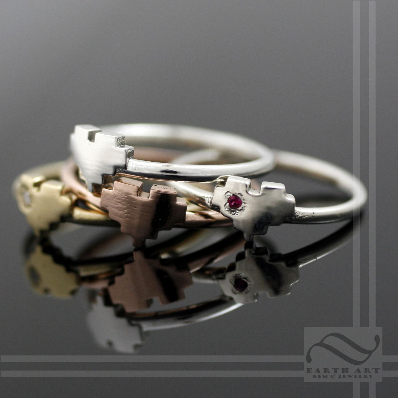 8 bit pixel heart ring by austin moore - Zelda Wedding Ring