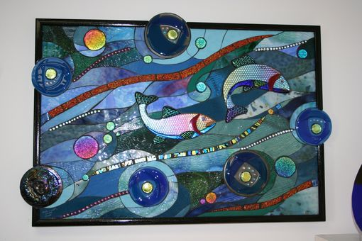 Custom Made Stained Glass Fish Mosaic