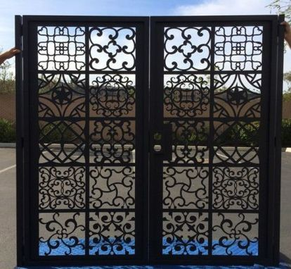 Custom Made Intricate Persian Design Metal Iron Steel Dual Entry Gate Handcrafted Made In Usa