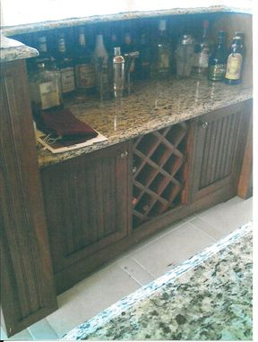 Custom Made Entertainment Cabinet And Bar