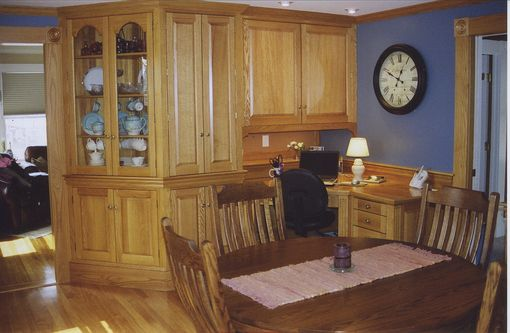Custom Made Home Office And Dining Room