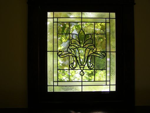 Custom Made Beveled Glass Living Room Window