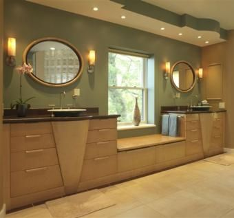 Custom Made Custom Birdseye Maple Vanities