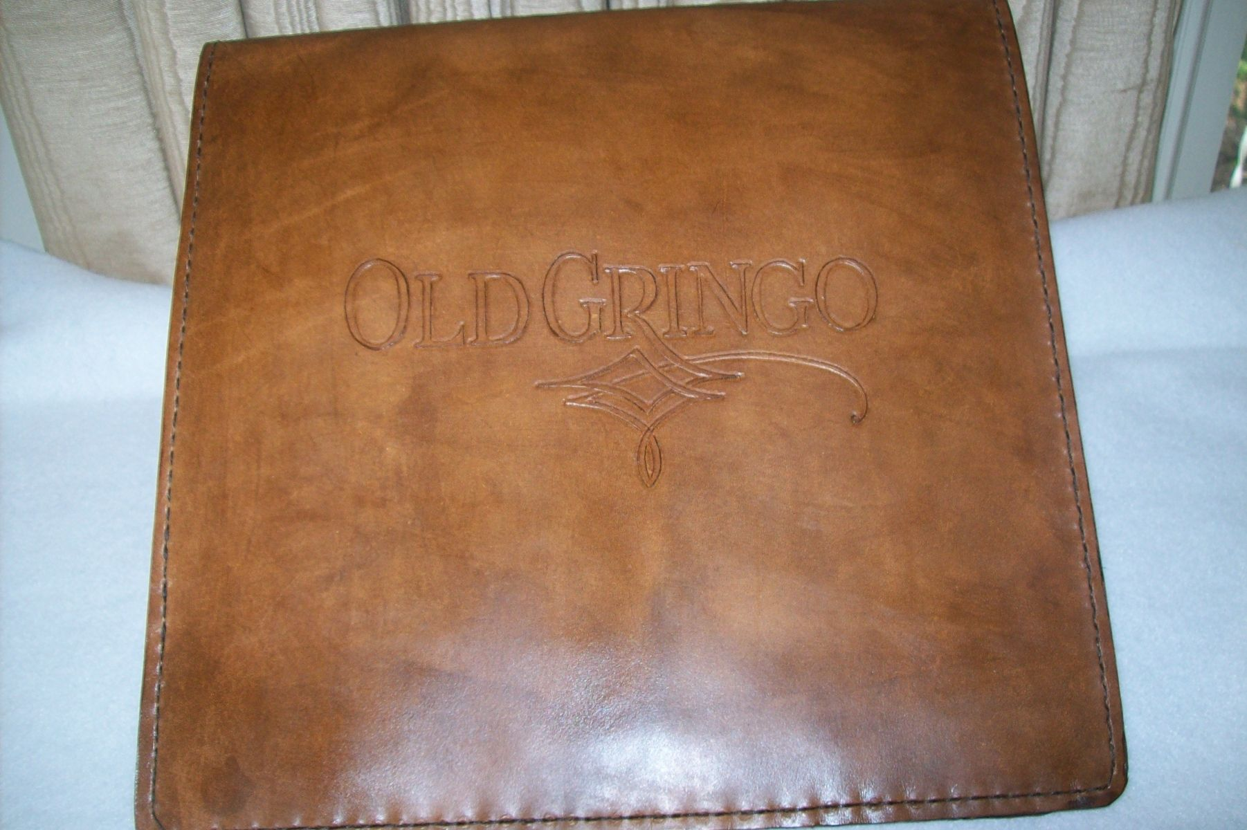 hand crafted custom leather business binder by kerry s custom