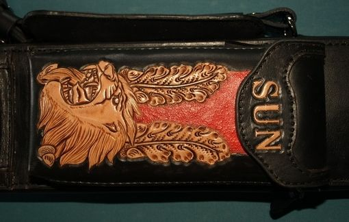 Custom Made Lion Mason ⅡLeather Poolstick Case