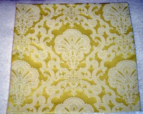 Custom Made Citron Lace Accent Pillow