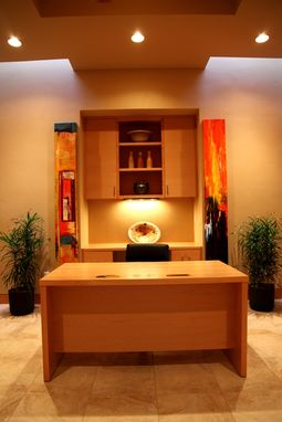 Custom Made Modern Maple Cabinetry & Furniture