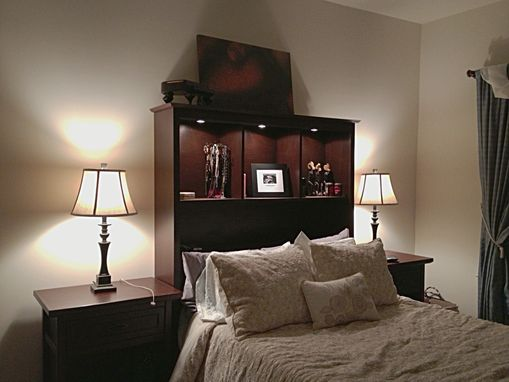 Custom Made Custom Head Board And Matching Nightstands.