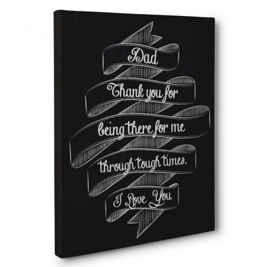 Custom Made Thank You Dad Canvas Wall Art