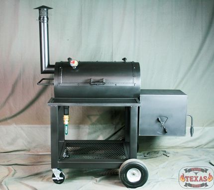 Custom Made Bbq Smoker - Heavy Duty Offset Smoker - Texas Bbq Smoker - Barbecue Smoker - Barbeque Smoker