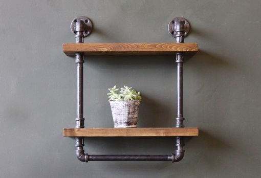 Custom Made Industial Style Bathroom Shelf With Towel Bar, Ships From Detroit, Michigan