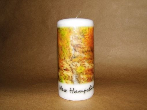 Custom Made Pillar Candle Silver Cascades Crawford Notch