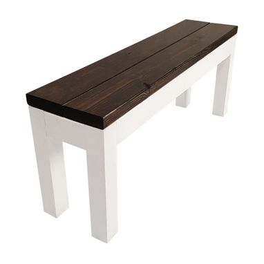 Custom Made Farmhouse Bench — Rustic Modern Table Bench