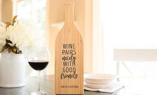 Custom Made Wine Bottle Shaped Cutting Boards