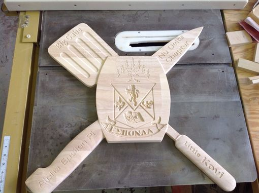 Custom Made Fraternity Paddle Carving