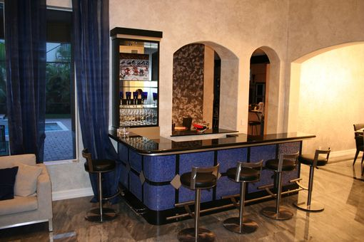 Custom Made Contemporary Tiled Bar