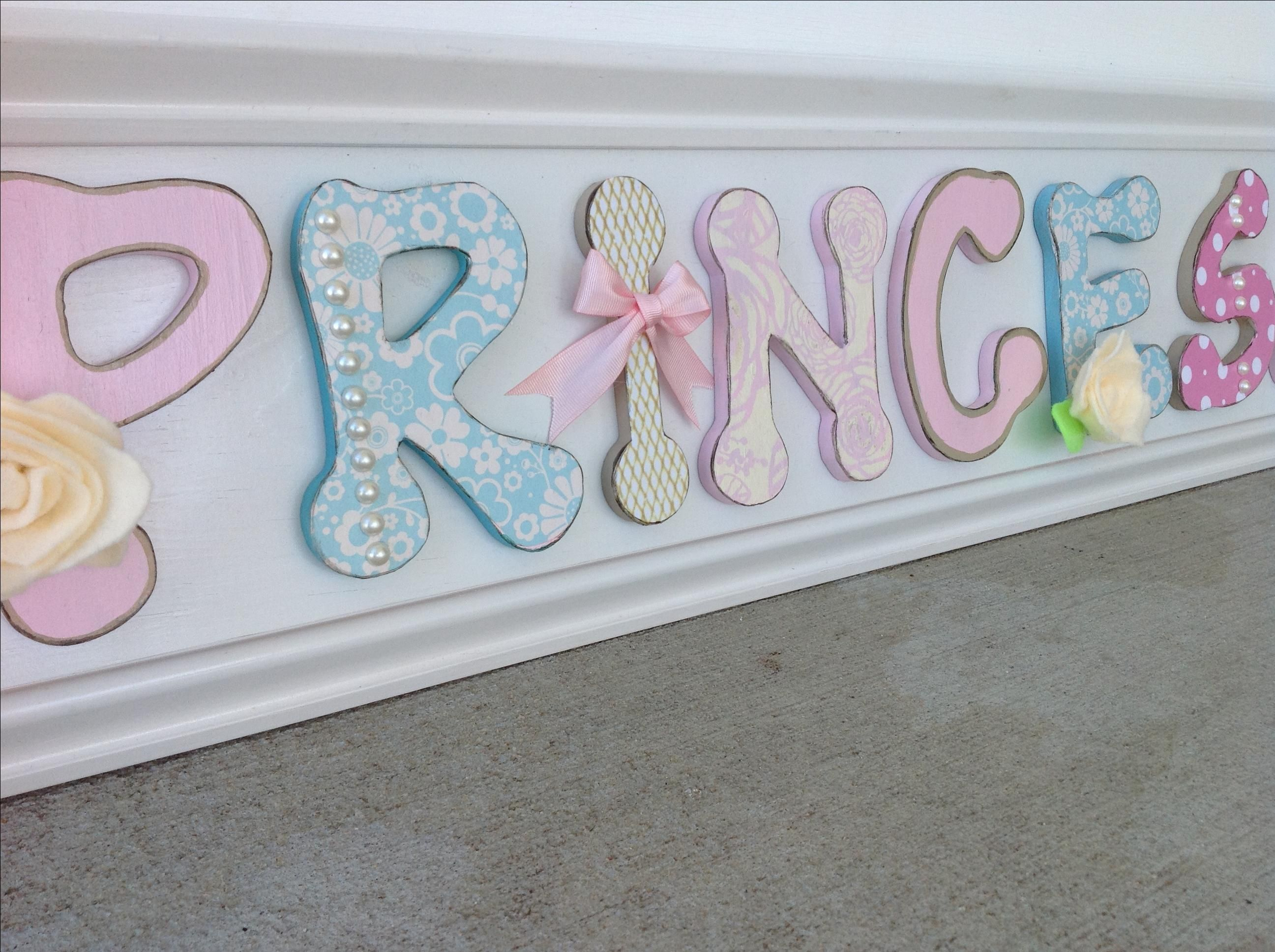 Buy a Hand Crafted Pastel Princess Sign, Nursery, Children\'s Wall ...