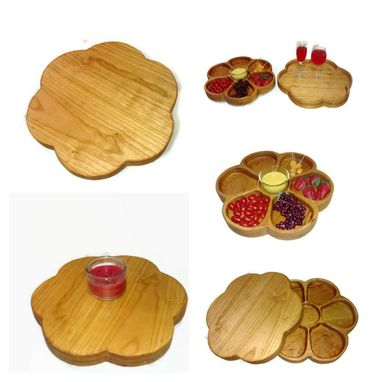 Custom Made Lazy Susan Combination Serving Platter And Serving Tray