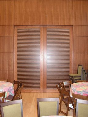 Custom Made Louvered, Double, Sliding Doors