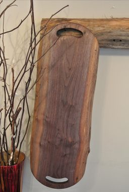 Custom Made The Harper - Walnut Cutting/Serving Board With Comfortable Grip Double Handles