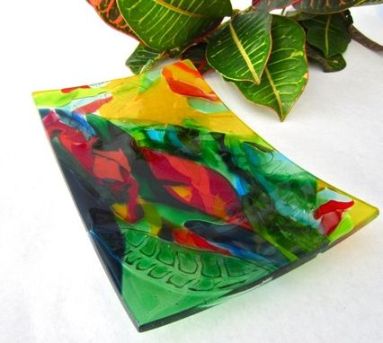Custom Made Fused Glass Platter- Kailua