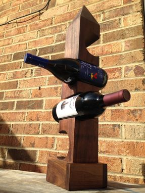 Custom Made Pillar Wine Rack And Display Piece