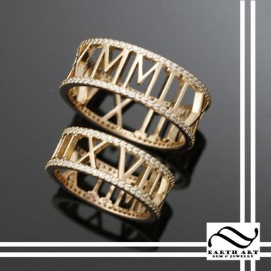 Custom Made Roman Numeral Eternity Band