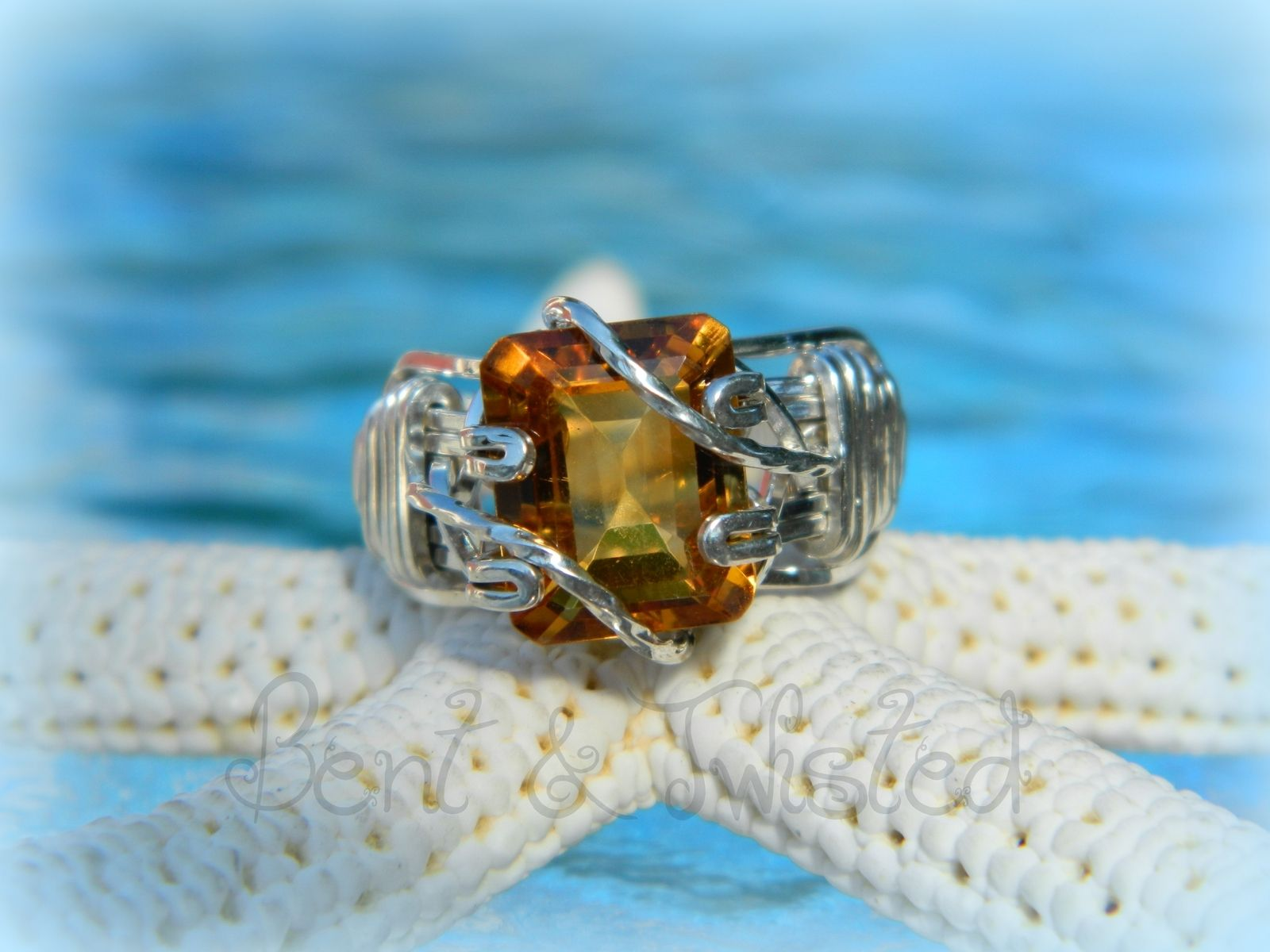 Custom Wire Wrapped Gemstone Ring by Bent & Twisted Creations ...