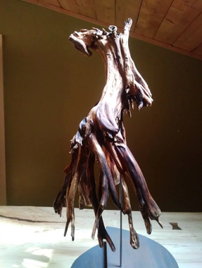 Custom Made Natural Wooden Sculpture, Huge, Beautiful