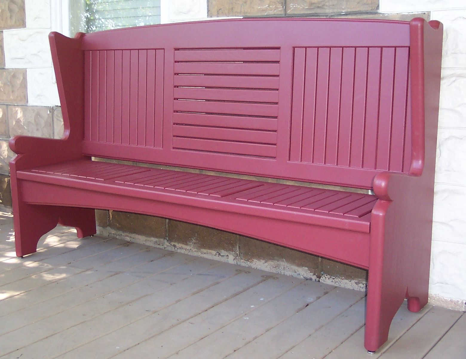 Hand Made Front Porch Bench By Sjk Woodcraft Design