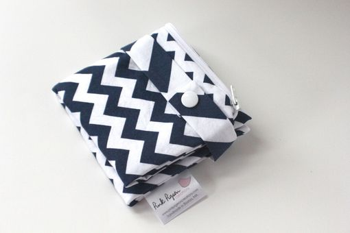Custom Made Small Lay Flat Messy Bags (Wet Bags) - Navy Chevron