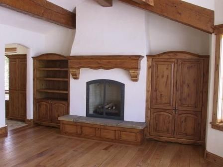 Custom Made Custom Fireplace Doors In Mountain French Home