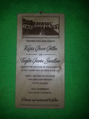 Custom Made Custom Wood Wedding Invitations