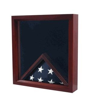 Custom Made Military Flag And Certificate Display Case