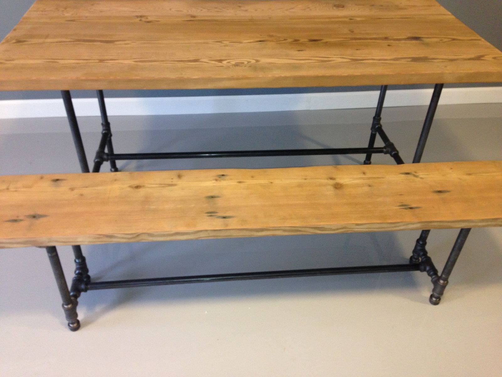 Hand Crafted Industrial Pipe Table by Dendro Co