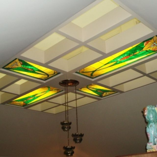 Hand Made Illuminated Stained Gl Ceiling Panels By Fuhrman Studios Inc Custommade