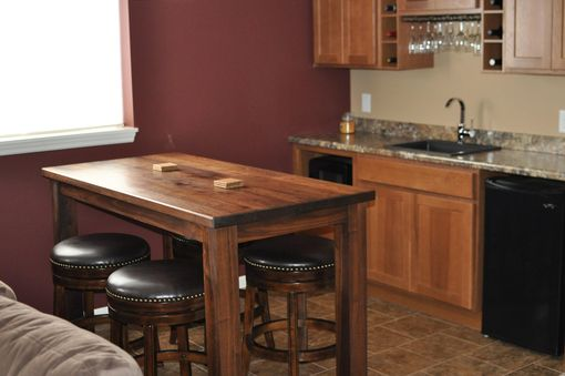 Custom Made Stunning Walnut Pub Table