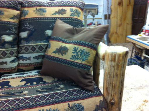 Custom Made Rustic Caribou, Fish And Bear Log Sofa