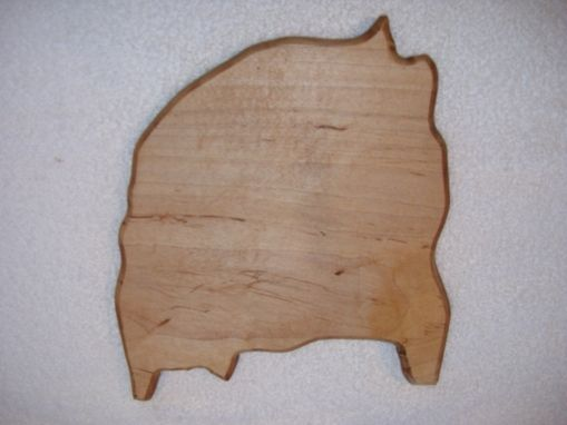 Custom Made Rio Grande Do Sul A Brazilian Shape Cutting Board Made From Maple