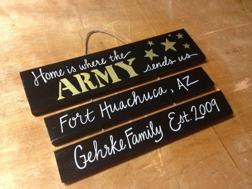 Custom Made Army Sign With Drop Downs