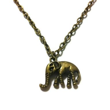 Custom Made Bronze Elephant Necklace