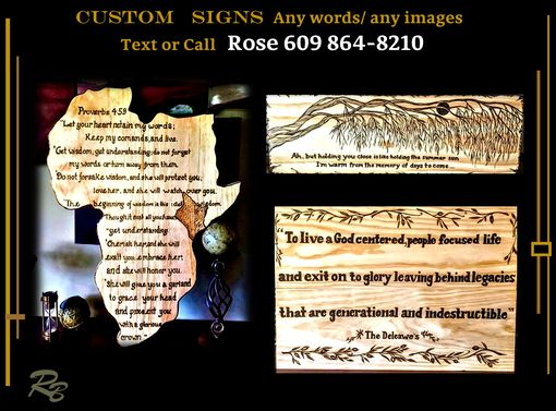 Custom Made Wood Burned  - Sign,Custom Plaque,Wood,Kitchen,Business,Logo,Family Name,Horse,Stall