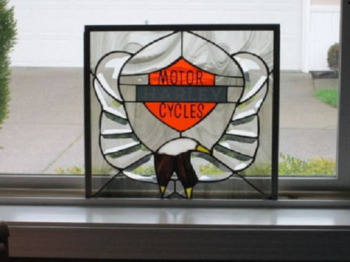 Custom Made Custom Beveled Glass And Stained Glass Eagle